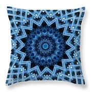 Abstract Blue 30 Throw Pillow