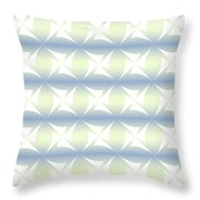 Abstract Blue And White Background Throw Pillow