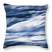 Abstract Blue Background Wild River Throw Pillow