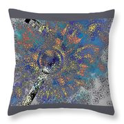 Abstract Blue Dots Throw Pillow