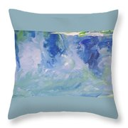 Abstract Blue Reflection Throw Pillow