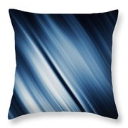 Abstract Blurred Dark Blue  Background Throw Pillow