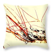 Abstract Branch Throw Pillow