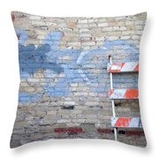Abstract Brick 2 Throw Pillow