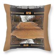 Abstract Bridge Over Road Throw Pillow
