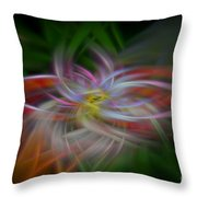 Abstract Brilliant Fibers  Throw Pillow