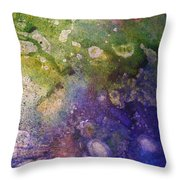 Abstract Bubbles And Rivers Throw Pillow