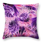 Abstract Burst Of Flowers Throw Pillow