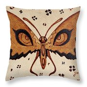 Abstract Butterfly Coffee Painting Throw Pillow