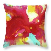 Abstract Butterfly Floral Throw Pillow
