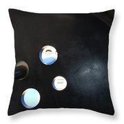 Abstract Button Holes Throw Pillow