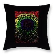 Abstract Cactus Eye  Throw Pillow