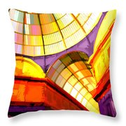 Abstract Cathedral Color Wheel Throw Pillow