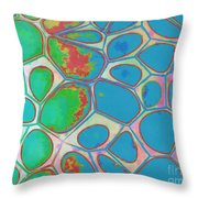 Abstract Cells 4 Throw Pillow