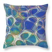 Abstract Cells 5 Throw Pillow
