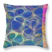 Abstract Cells 6 Throw Pillow