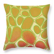 Abstract Cells 2 Throw Pillow