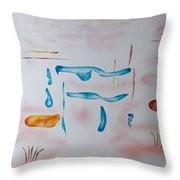 Abstract Character Throw Pillow