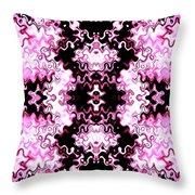 Pink And Black Design  Throw Pillow