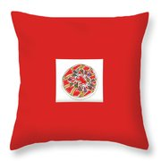 Abstract Circle Design #1 Throw Pillow