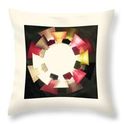Abstract Circles Throw Pillow