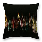 Abstract City Lights Throw Pillow