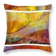 Abstract Collage No. 4 Throw Pillow