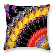 Abstract Collage Of Colors Throw Pillow