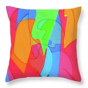 Abstract Color Block  Throw Pillow