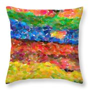 Abstract Color Combination Series - No 8 Throw Pillow