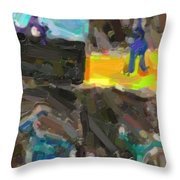 Abstract Color Combination Series - No 9 Throw Pillow