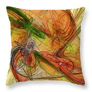 Abstract Color Swirls Throw Pillow