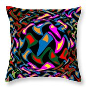 Abstract Colorful Art Exploded View Of Whirlwind At Its Builds On Dry Leaves Throw Pillow