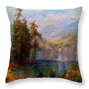 Abstract Colorful Nature Throw Pillow