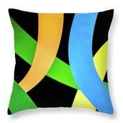 Abstract Colors Throw Pillow