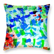 Abstract Colors. Throw Pillow