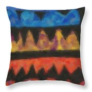 Abstract Combination Of Colors No 4 Throw Pillow