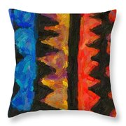 Abstract Combination Of Colors No 5 Throw Pillow