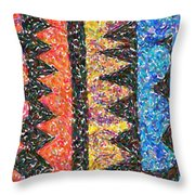 Abstract Combination Of Colors No 6 Throw Pillow