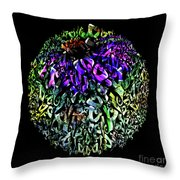 Abstract Cone Flower Digital Painting A262016 Throw Pillow