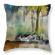 Abstract Contemporary Art Titled Humanity And Natures Gift By Todd Krasovetz  Throw Pillow