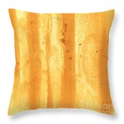 Abstract Contemporary Golden Yellow Painting Vibrant And Bold Yellow Gold By Madart Throw Pillow