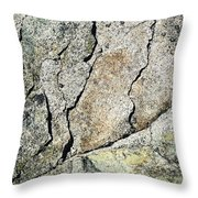 Abstract Cracks On A Granite Block Of Stone Throw Pillow