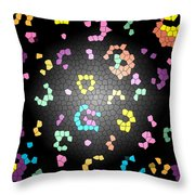 Abstract Creation With Small Shapes Colourful Throw Pillow