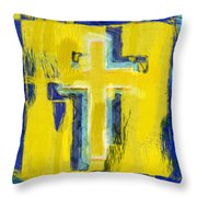 Abstract Crosses Throw Pillow