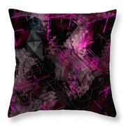 Abstract Crystal - Cg Render Throw Pillow