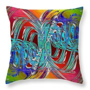 Abstract Cubed 280 Throw Pillow