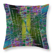 Abstract Cubed 310 Throw Pillow
