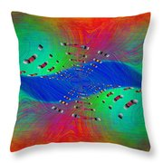 Abstract Cubed 328 Throw Pillow