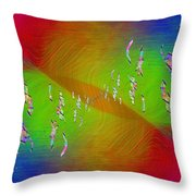 Abstract Cubed 355 Throw Pillow